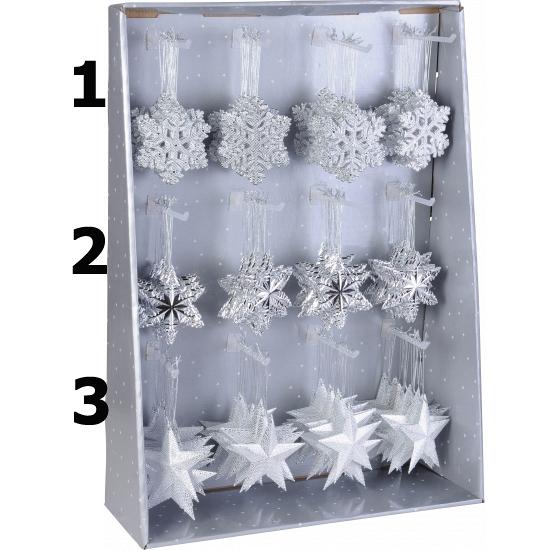 Kersthanger Sneeuwvlok Zilver 10 Cm Winter winkel kopen
