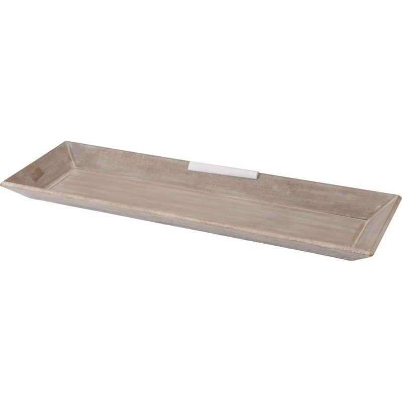 Kerststukje maken grijs onderbord 20 x 60 cm hout rechthoekig