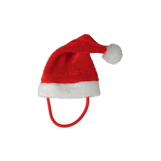 Mini kerstmuts met bandje voor knuffels-huisdieren